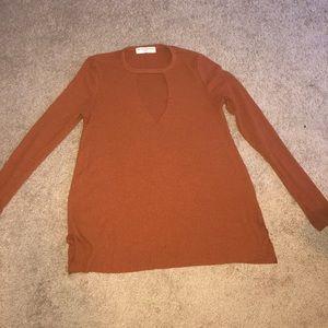 Rust Cutout sweater